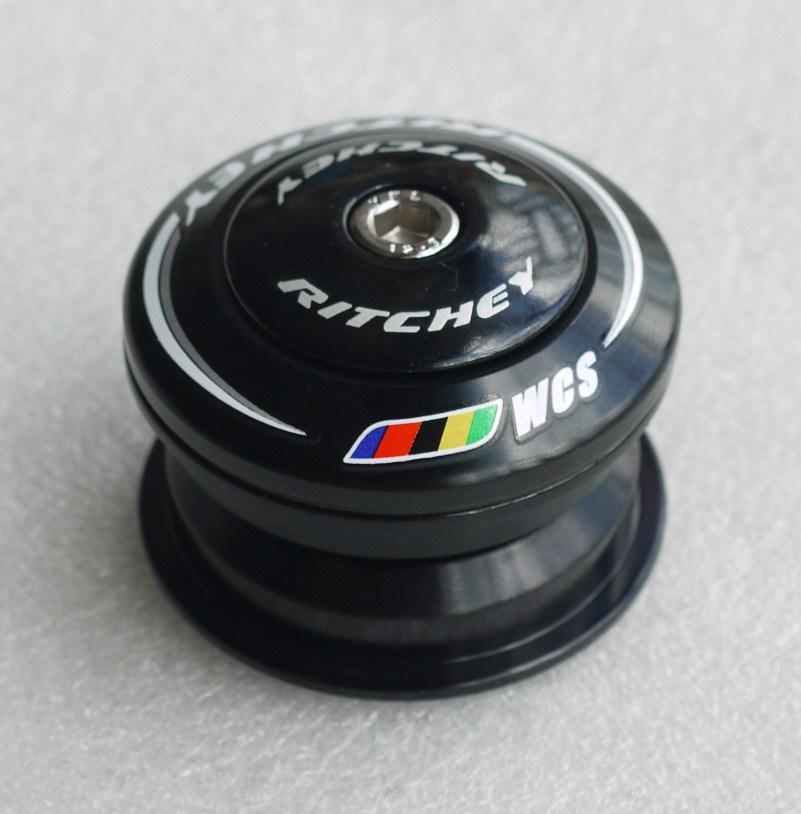 WCS PRESS FIT Zero Stack Headset 1-1/8' 44MM TiN Coat BEARING BLACK(China (Mainland))