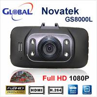 "100% Original Glass Lens GS8000L 1080P Car DVR 2.7"" LCD Car Recorder Video Dashboard Camera with G-sensor NOVATEK chipset GS8000"