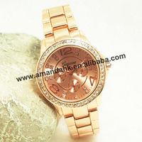 50pcs/lot,Luxury Brand geneva metal Watch Women rhinestone steel watches fashion Casual watch metal Ladies quartz wrist watches