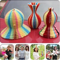 Hot magic vase hat, tourist attractions spread amazing creative new strange hat paper hat free shipping