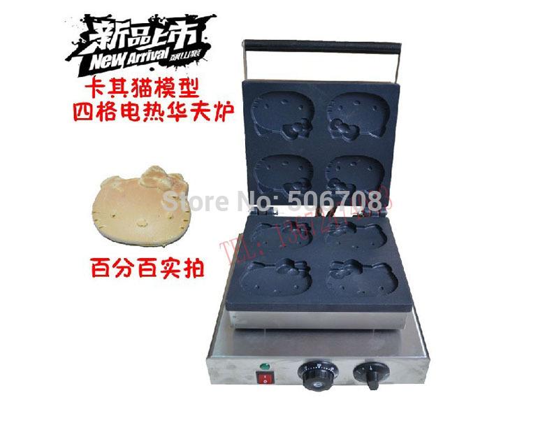 Free shipping~ Electric Hello Kitty shape waffle maker machine / Khaki muffin cake machine(China (Mainland))