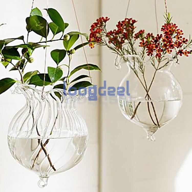 wine bottle hanging glass vases terrarium for flowers and wine bottle