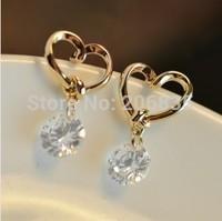 Heart Earrings Design AAA+ Colorful Swiss Cubic Zirconia Earrings For Women For Party/Weddings
