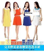 Hot Fashion Girl Dresses Korean Slim Knee-length Casual Solid Chiffon Women Dress DRESS-2515313