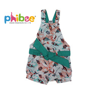 Free shipping Phibee 100% cotton one-piece overalls shorts girl's clothing summer shorts Clearance