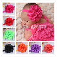 Free Shipping 24 Pcs/lot Solid Chiffon Flower Headband,Handmade Chiffon Flower Headband,Baby Chiffon Headband  CNHB-14050603