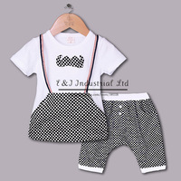 Fashion 2014 Boy Clothing Sets White And Grey Summer Boy Suits With Grey Bow Tie Children Clothe Kids Wear Free Shipping