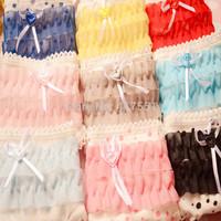 (6 pcs/lot) sexy lace underwear women briefs ,Lovely 100% cotton panties,dot bowknot panties for women
