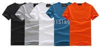Black white blue orange grey Mens Fruit of the Loom Heavy Cotton Plain Blank Short Sleeve T shirt Tee Shirt slim tight O neck