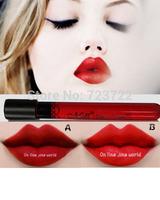 New Arrival makeup Waterproof Elegant Red Color Lipgloss matte smooth liquid velet lipstick Long Lasting Lip Makeup  Free Ship