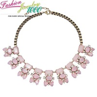 New Design Luxury Multi Flower Pendant Chunky Statement Brand Vintage Necklace Fashion Jewelry For Women Free Shipping