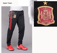 2014 World cup men football pants football traning long pants Spain team size L- XXXL country teams free shipping P56001