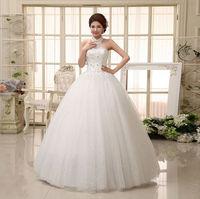 2015 New 100% Actual Images Floor-Length Vintage Slim Bandage Diamante Backless Lace Flower Halter Princess Wedding Dress WD027