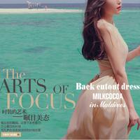 2014 bohemia full dress chiffon summer one-piece dress full dress full dress solid color beach dress