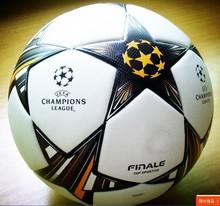 European champion league Soccer ball Anti-slip granules football ball High Quality PU size 5 soccer ball Free shipping(China (Mainland))