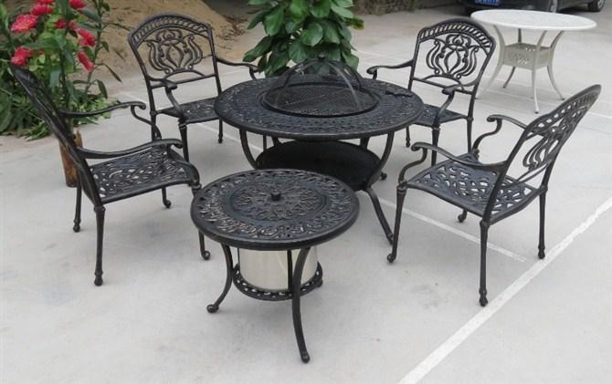 Muebles de jard n de aluminio fundido muebles sillas y for Aluminio productos de fundicion muebles de jardin
