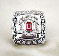 Free shipping rhodium plated replica NCAA 2005 2006 2007 2008 ohio state buckeyes National Championship ring for men