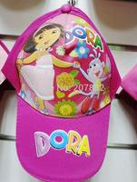 50pcs/lot ! 2014 dora the explorer cap cartoon visors for Girls kids sun hat A3289 on Sale Free Shipping