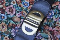2014 cummerbund female black metal double buckles buckle brief fresh vintage belt