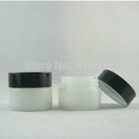 High quality  15G  white glass  Jar,cosmetic glass bottle,makeup  cream bottle with aluminum cap ,eye cream jar 20pc/lot