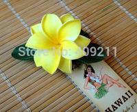 NEW ARRIVAL !  FREE SHIPPING+ 100PCS /LOT+ KL8911  9CM   FOAM  PLUMERIA  HAIR PICK +12 COLORS +   HAWAIIAN FLOWER