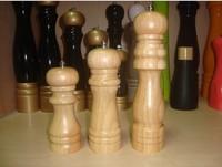 Classical Wooden Oak Pepper Spice Salt Corn Mill Grinder Muller 6inch