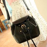 Women's fashion PU tassel bucket bag vintage leather shoulder bag free shipping