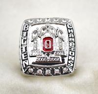 free shipping replica rhodium plated 2008 ohio state buckeyes NCAA world series championship ring