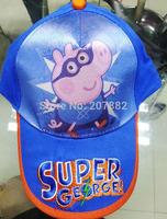 50pcs/lot ! 2014 the newest peppa pig cap cartoon children visors kids sun hat A3293 on Sale Free Shipping