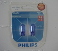 PHIL 12961BV 12V T10 W5W 12V5W 4000K blue vision p