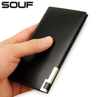 Ultra-thin souf men's small card holder women's card case clip multi card holder short design card case genuine leather driving