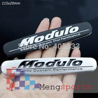 20pcs Moduro Silver Black Badge Emblem Sticker 115x20mm