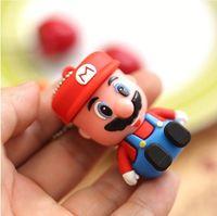 AC63 New 2014 Cartoon Figure Mario  model external storage  2.0 USB  memory flash card pen drive 1GB/ 4GB/ 8GB/16GB/32GB