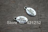 70pcs Best Friends charms 18 x 10mm tibetan silver BBF
