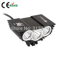 SolarStorm-X3 5000lm CREE XM-L 3x T6 LED Headlight Headlamp Head Lamp Light Torch Flashlight  Bike Light Free shipping