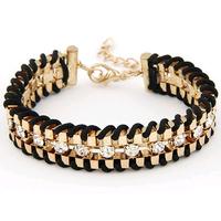 7 color Fashion Temperament simple metal rhinestone alloy  bracelet & bangle bangle fashion jewelry