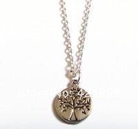 20pcs/lot Tiny Tree of Life Necklace, Tree Necklace, Dainty Necklace, Small Tree Pendant