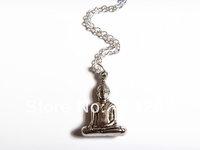 20pcs/lot Meditating Buddha Necklace, Buddha Necklace Meditation Necklace Yoga Jewelry Buddha Necklace Sitting Buddha Jewelry