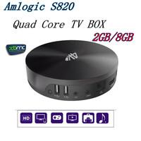 Newest S82 XBMC Android TV Box Quad Core Amlogic S802 2GB/8GB Mali450 GPU 4K HDMI Bluetooth WiFi Android 4.4 KitKat Mini PC