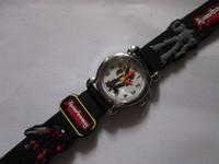 Free Shipping 2pcs/lot wholesale hot sales fashion high quality Cute black red 3D Cartoon Fashion boys kids Quartz watch