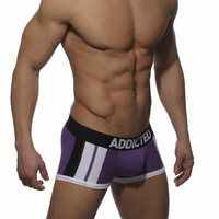 HOT SELL!SEXY MENS UNDERWEAR BOXERS ADDICTED SIZE L FASHION PURPLE