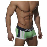 MENS MEN'S NEW ADDICTED  STRIPED  POUCH BOXER  - VERY HOT - GYM MUSCLE SIZE L GREEN