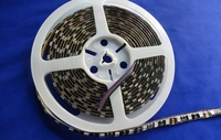 BLACK PCB LED strip 5050 SMD 12V flexible light 60LED/m,5m 300LED,White,Blue,Green,Red,Yellow;RGB;waterproof in silicon coating