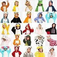 Free Real Character Shipping New 2014 Child Cartoon Cosplay Kigurumi Onesie Pajamas Cute Pikachu/tigger/panda Girl Boy's Couple