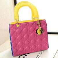 "DHL Free Shipping Hot Women 's leather Bag Violet ""Women handbags on shoulder Bag Tote Women messenger Bag Diorissimo 3 Colors"
