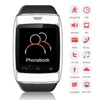 Smart Bluetooth Watch WristWatch Phone Mate Good assistant for Smartphone White