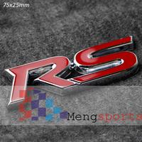 20pcs RS Metal Red Sticker Car Badges Emblem 75x25mm