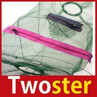 Twoster Crab Fish Crawdad Shrimp Minnow Fishing Bait Trap Cast Dip Net Cage Save up to 50%
