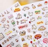 fashion sticker new Korea stationery Cute cat diy diary sticker / transparent decorative stickers nice gift F160