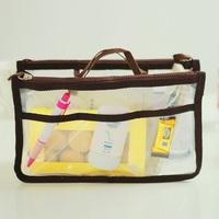 New 2014  Make Up Bag Necessaire Women EVA Waterproof Clear Transparent Handbag Organizer Double Zipper Bag Cosmetic Box Case